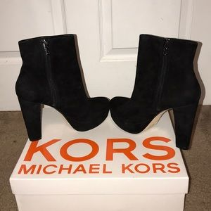 Michael by Michael Kors black suede boot